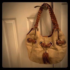 Michael Kors tassel bag with woven handle